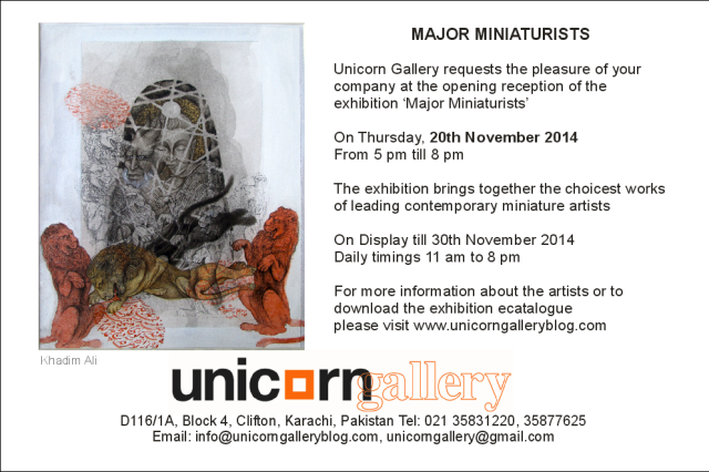 major miniaturists 20 november 2014