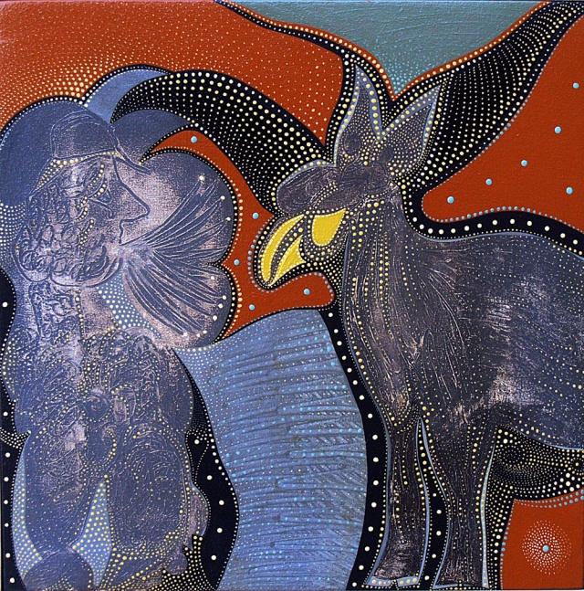 Unver Shafi oil on canvas 15x15
