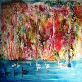 Artist: Tassaduq Sohail Medium: Oil on canvas Size: 4 by 4 feet Contact: 0092-300-8260580 unicorngallery@gmail.com