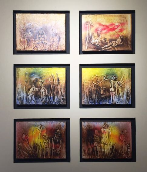 Artist: Tassaduq Sohail Medium: Oil on canvas Title: 6 stories Contact: 0092-300-8260580 unicorngallery@gmail.com