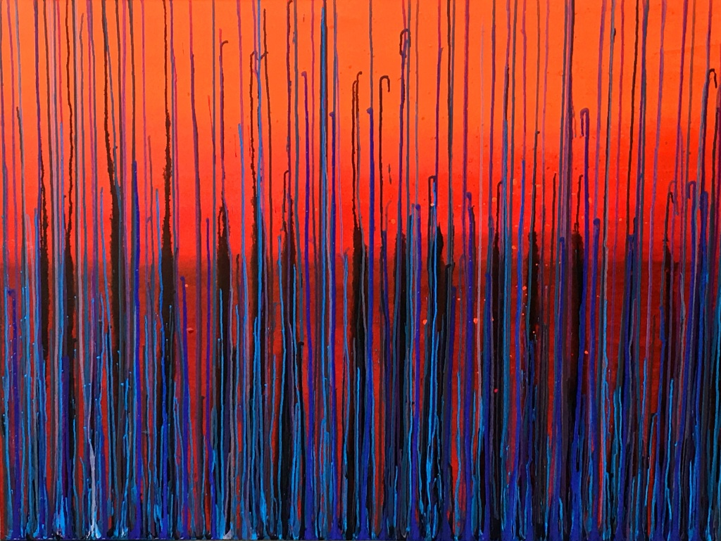 'Sunset' 36 by 48 inches, oil on canvas