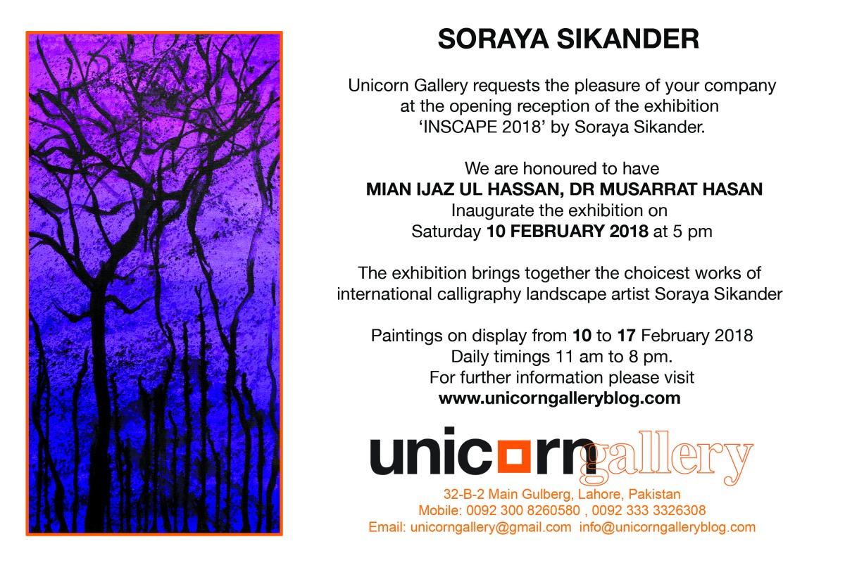 Soraya Sikander 'INSCAPE2018'